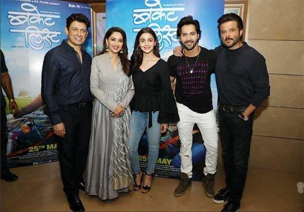 Sriram Madhav Nene, Madhuri Dixit, Alia Bhatt, Varun Dhawan, Anil Kapoor