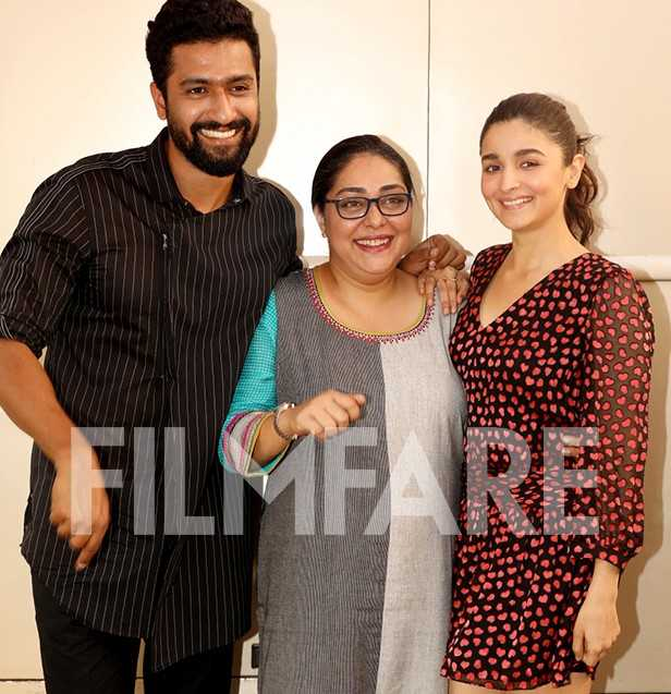 Vicky Kaushal, Meghna Gulzar, Alia Bhatt