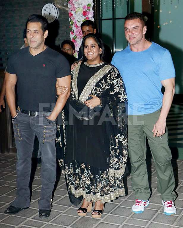 Arpita Khan, Salim Khan, Salman Khan, Helen
