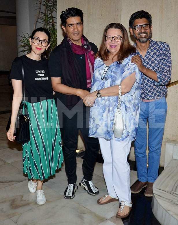 Karisma Kapoor, Manish Malhotra, Babita Kapoor, Niranjan Iyengar