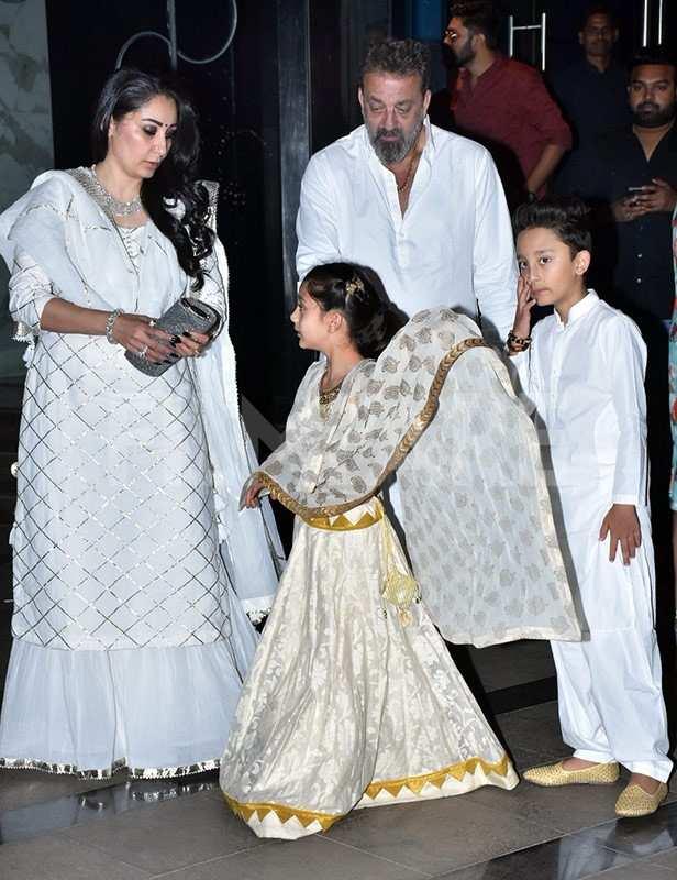 Manyata Dutt, Shahraan Dutt, Iqra Dutt, Sanjay Dutt