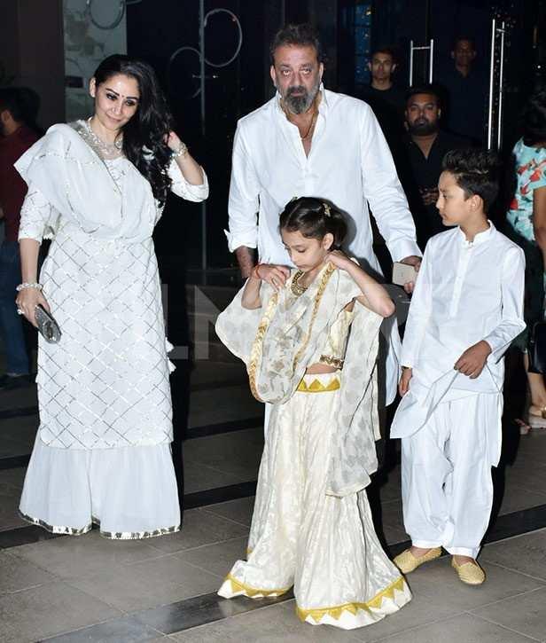 Manyata Dutt, Iqra Dutt, Sanjay Dutt , Shahraan Dutt