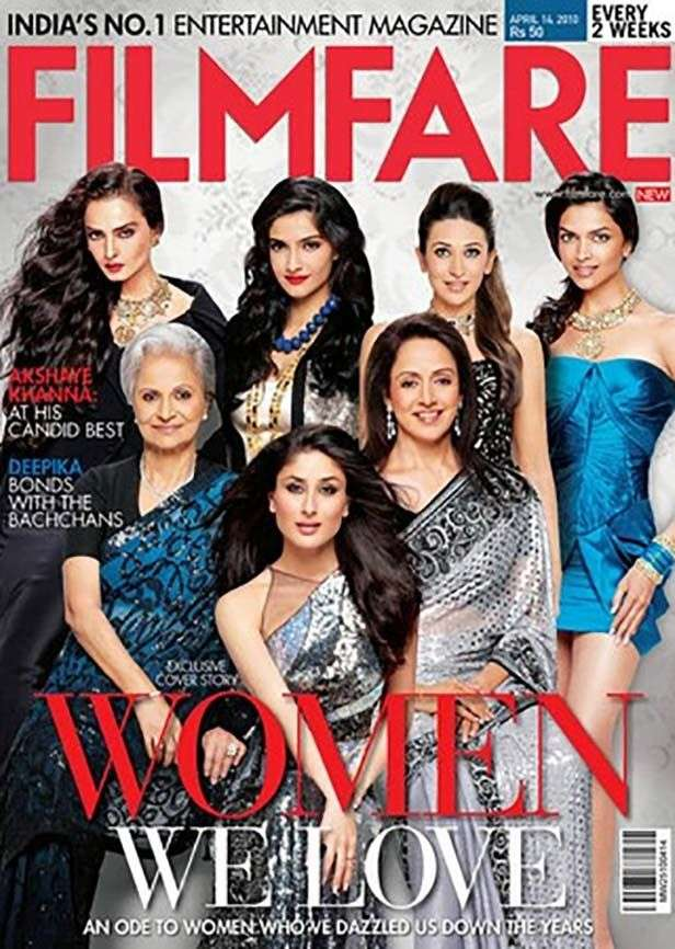 Image result for filmfare covers 2010""
