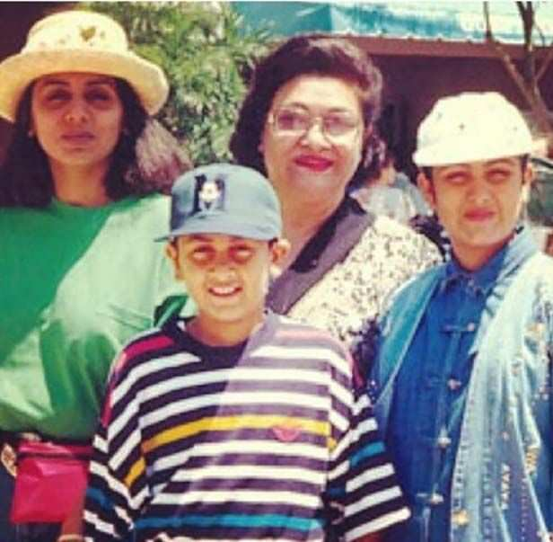 Neetu Kapoor, Ranbir Kapoor, Krishna Raj Kapoor and Riddhima Kapoor