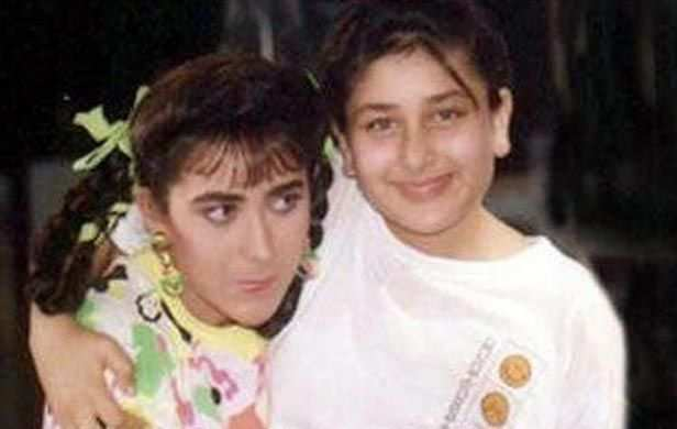 With sister Karisma Kapoor