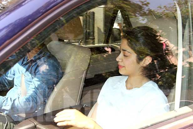 Janhvi Kapoor and Ishaan Khatter snapped outside a gym in Mumbai
