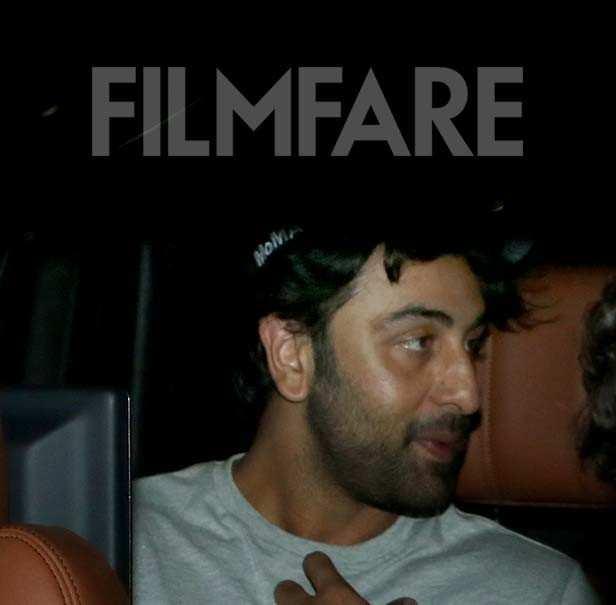 Ranbir Kapoor and Alia Bhatt visit Karan Johar