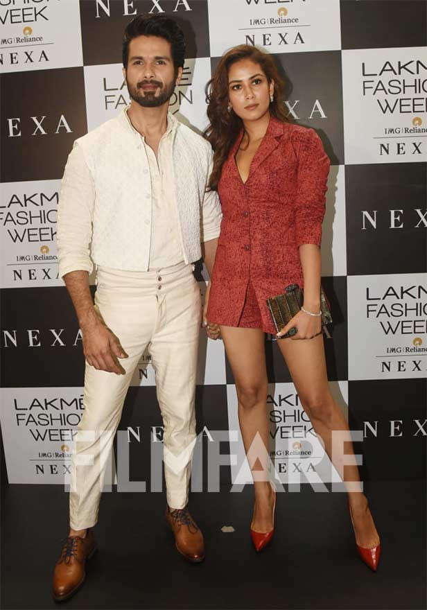LFWWF'19: Shahid Kapoor and Mira Kapoor look their stylish best
