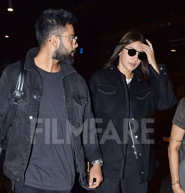 Photos Virat Kohli And Anushka Sharma Twin In Black