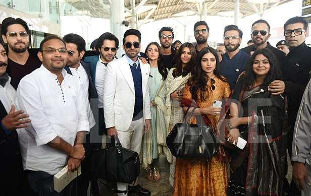 Karan Johar, Bhumi Pednekar, Ekta Kapoor, Ranbir Kapoor, Vicky Kaushal, Ayushmann Khurrana, Varun Dhawan, Sidharth Malhotra, Rajkummar Rao