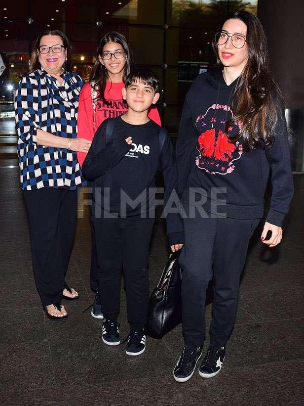 Babita Kapoor, Samiera Kapoor, Kiaan Raj Kapoor, Karisma Kapoor