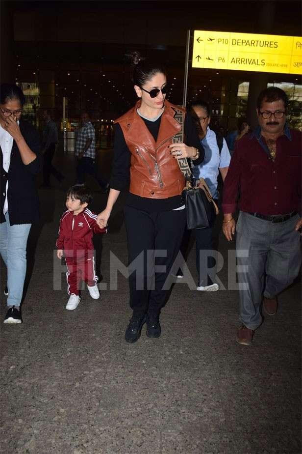 Taimur Ali Khan, Kareena Kapoor Khan Airport Looks