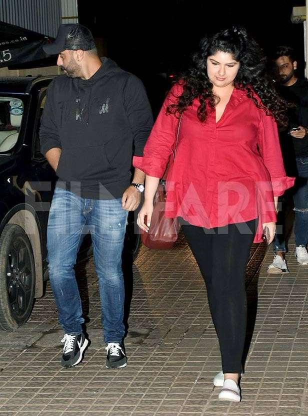 Siblings Arjun Kapoor and Anshula Kapoor head out for a movie night