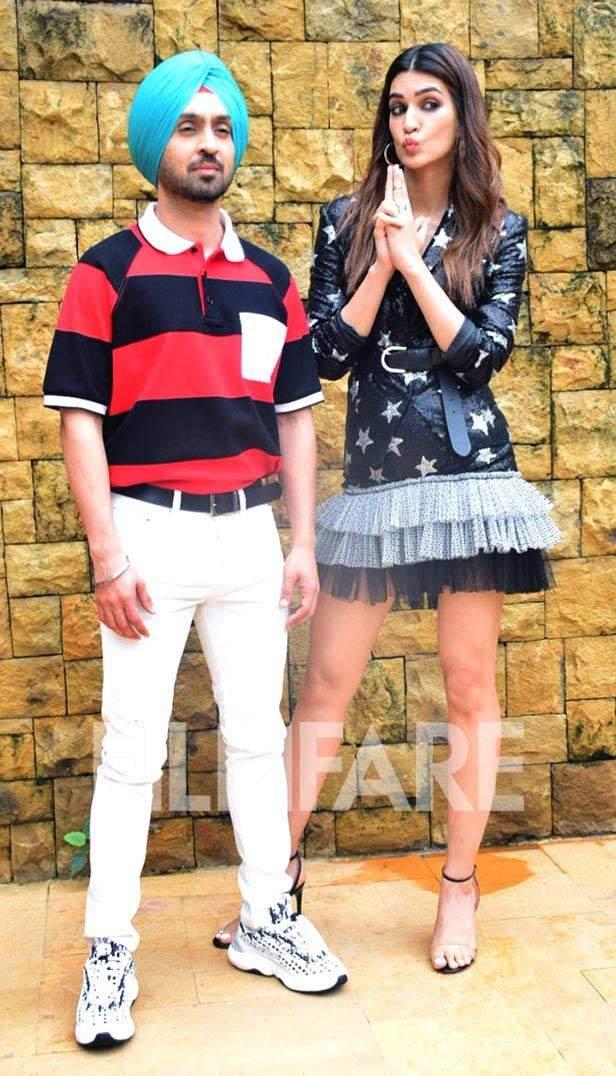 Diljit Dosanjh and Kriti Sanon