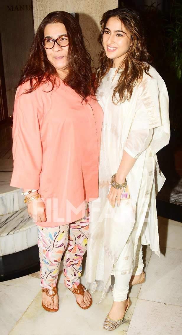 Sara Ali Khan and Amrita Singh clicked together