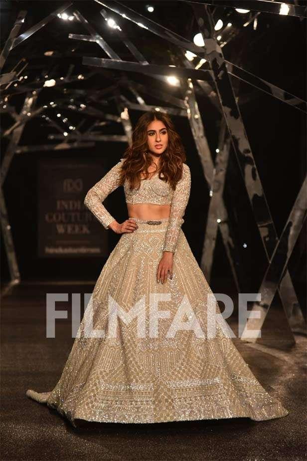 Sara Ali Khan makes a Nawabi runway debut