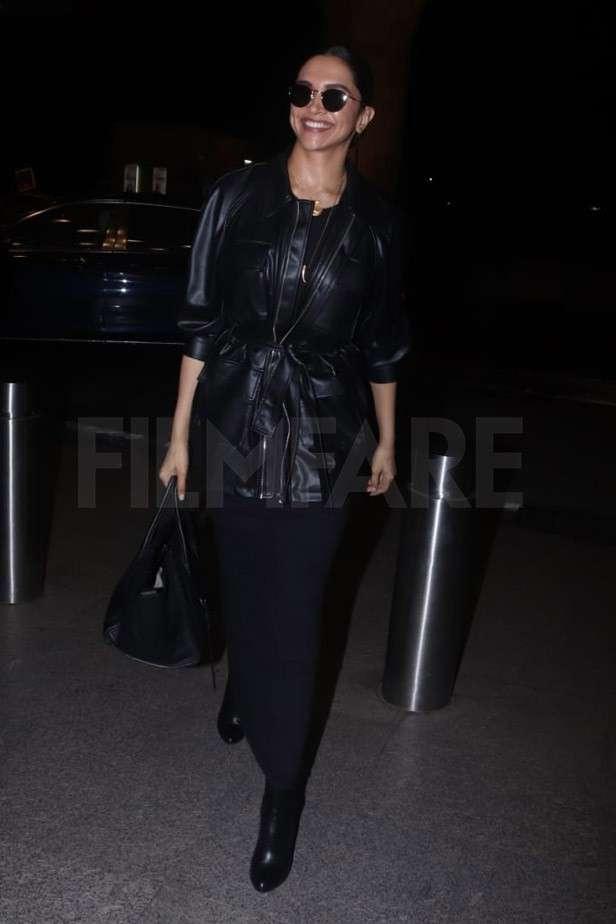 Deepika Padukone slays in an all black look