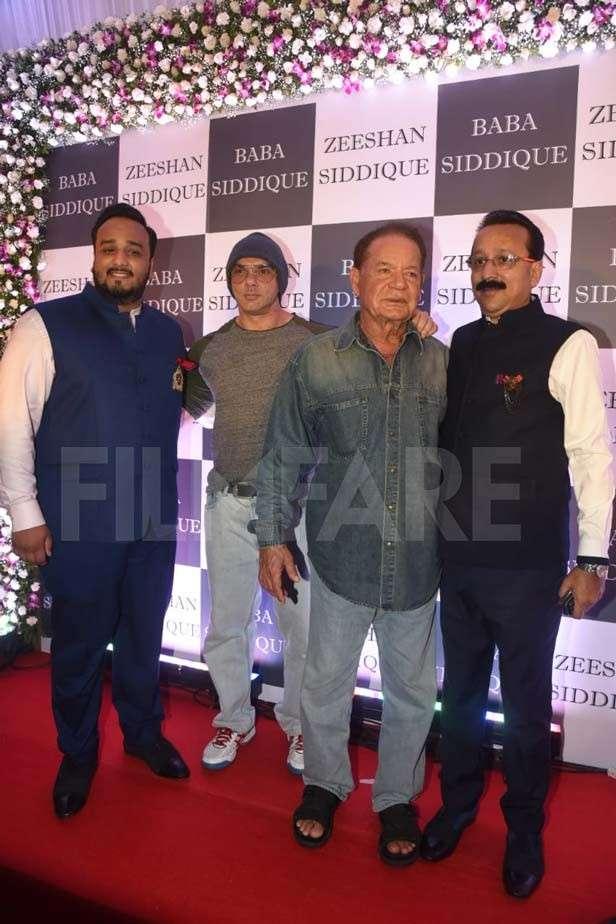 Zeeshan Siddique, Sohail Khan, Salim Khan, Baba Siddique