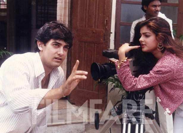 Aamir Khan with Mamta Kulkarni