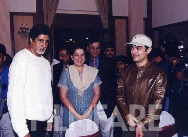 With Amitabh Bachchan and Reena