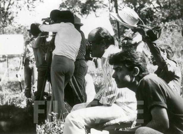 A young Aamir Khan on a film set