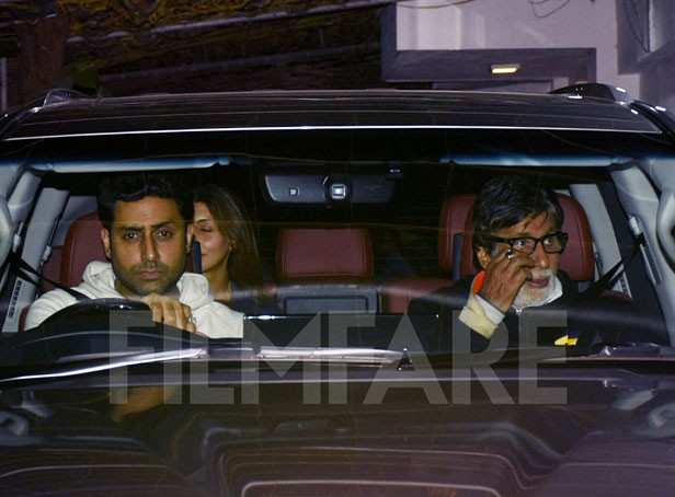 Photos: Bachchans attend the special screening of Badla