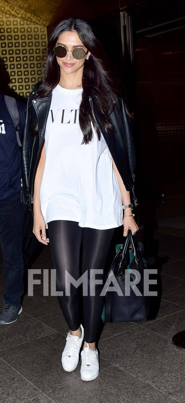 Deepika Padukones airport look is on point yet again