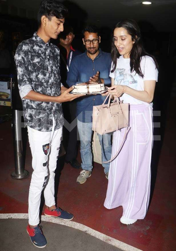 Pictures: Birthday girl Shraddha Kapoor gets a special surprise from fans