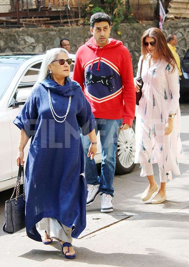 Jaya Bachchan, Abhishek Bachchan, Shweta Bachchan Nanda