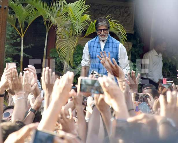 In Photos: Amitabh Bachchan greets a sea of fans outside his residence