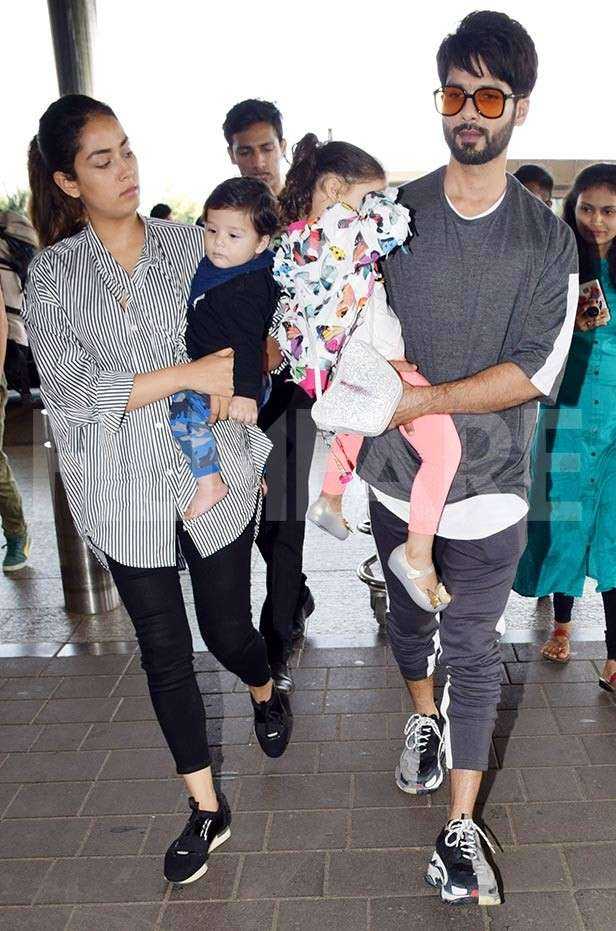 Shahid Kapoor leaves for Singapore with his family