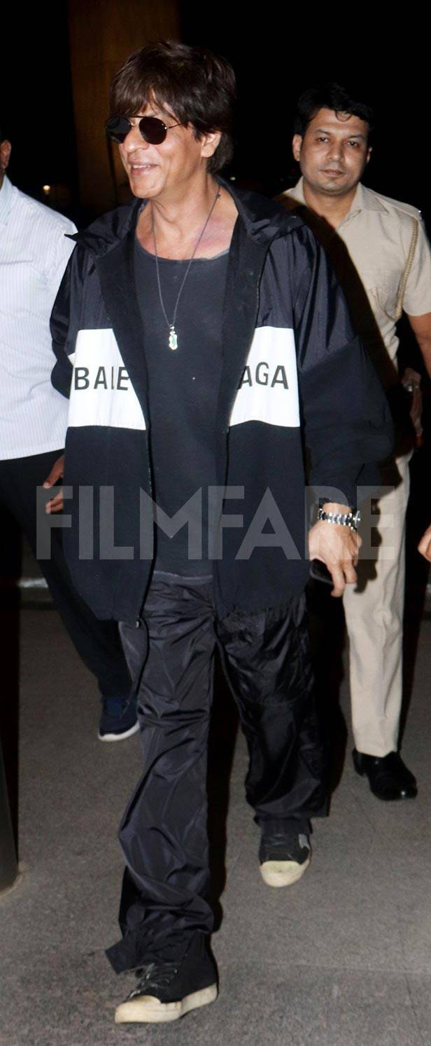 Shah Rukh Khan slays in black Balenciaga jacket