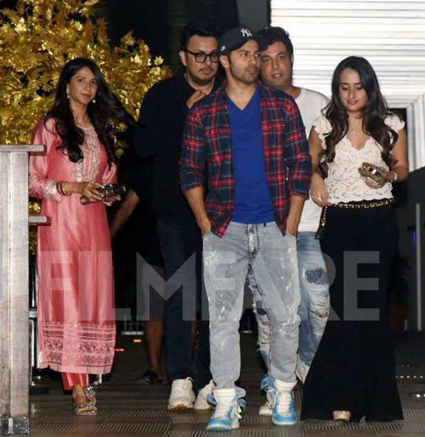 Dinesh Vijan, Varun Dhawan, Varun Sharma, Natasha Dalal