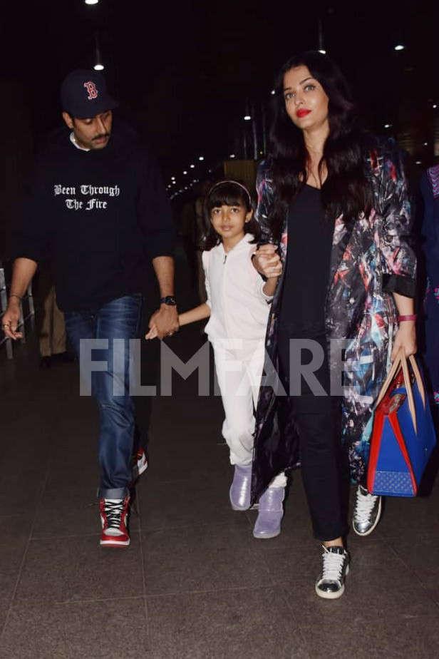 Abhishek Bachchan, Aaradhya Bachchan, Aishwarya Rai Bachchan