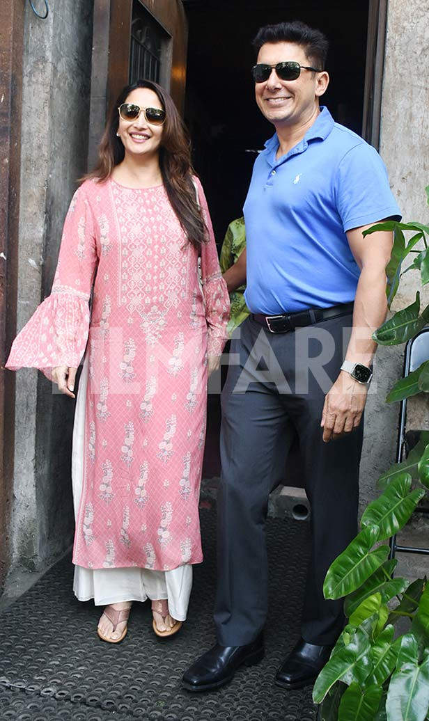 Madhuri Dixit enjoys some romantic time with husband Sriram Nene