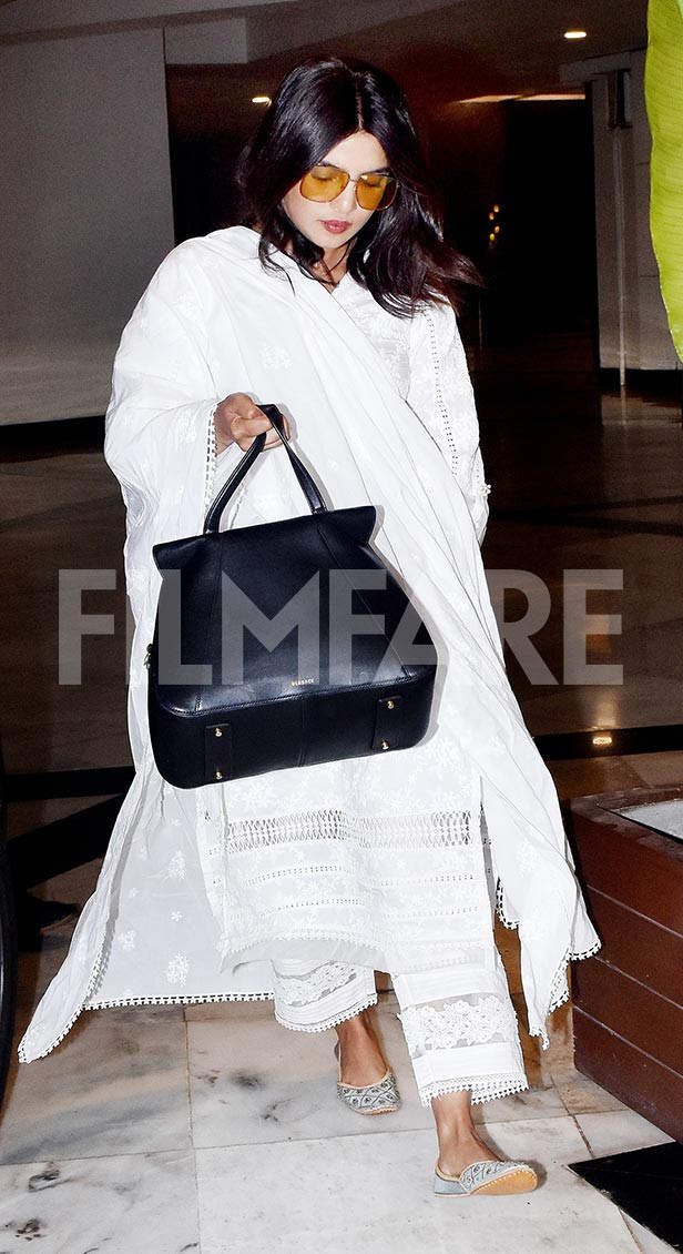Priyanka Chopra snapped at Manish Malhotra's residence