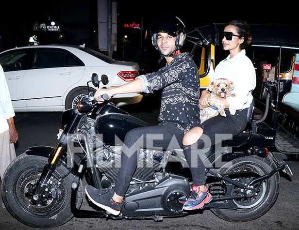 Rajkummar Rao and Patralekhaa step out for a bike ride