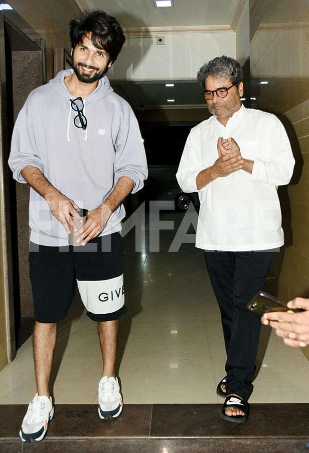 Pictures: Shahid Kapoor catches up with Vishal Bharadwaj