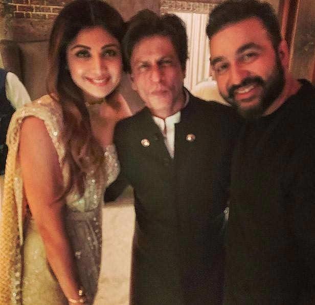 Shilpa Shetty and Raj Kundra with Shah Rukh Khan