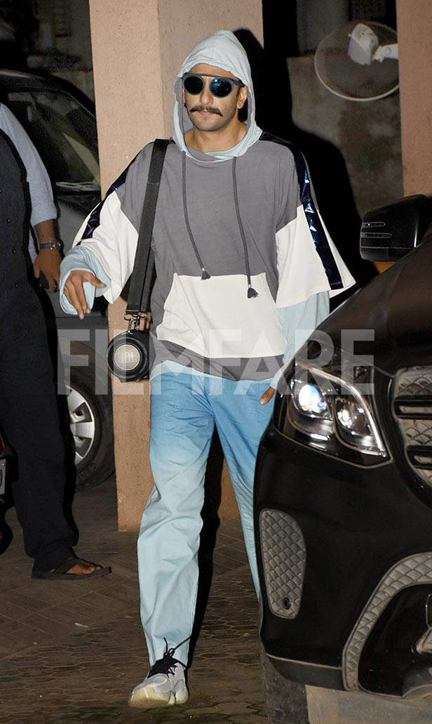 Ranveer Singh snapped post a meeting with Sanjay Leela Bhansali