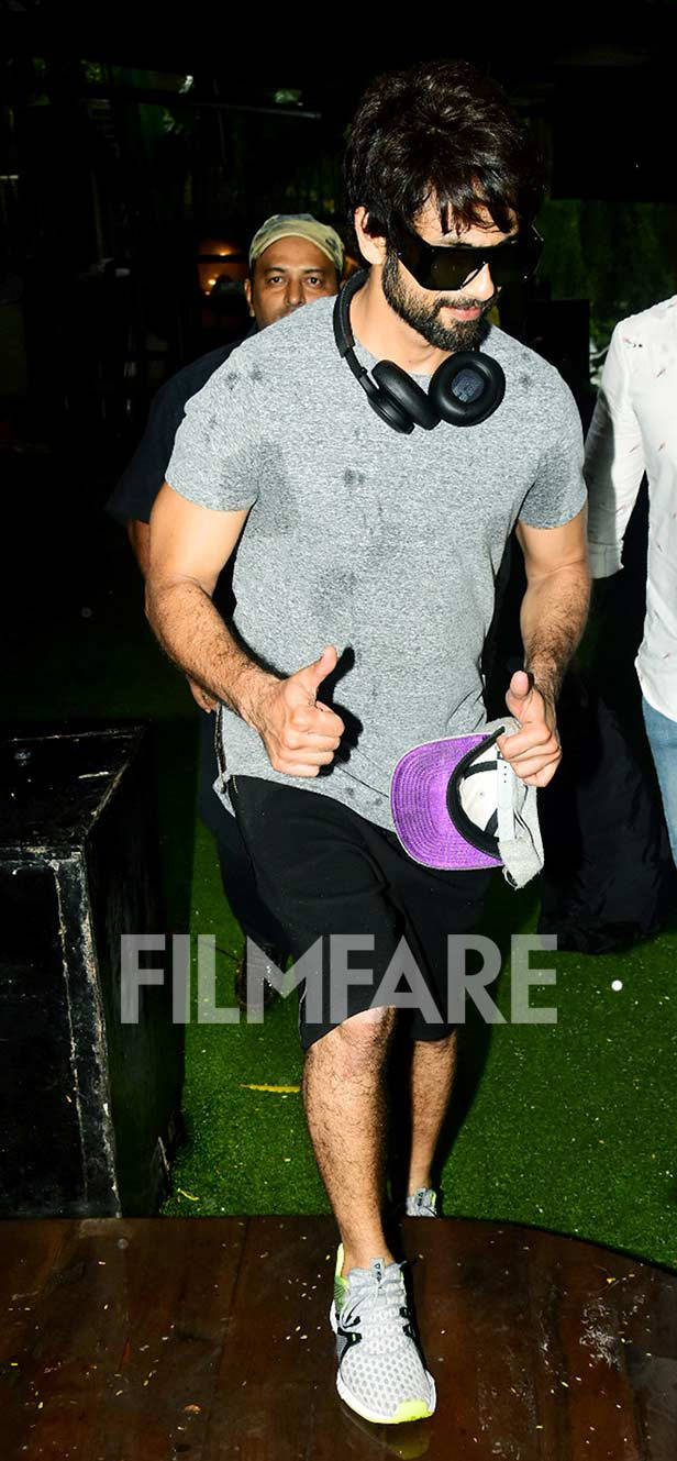 Shahid Kapoor snapped post a gym session