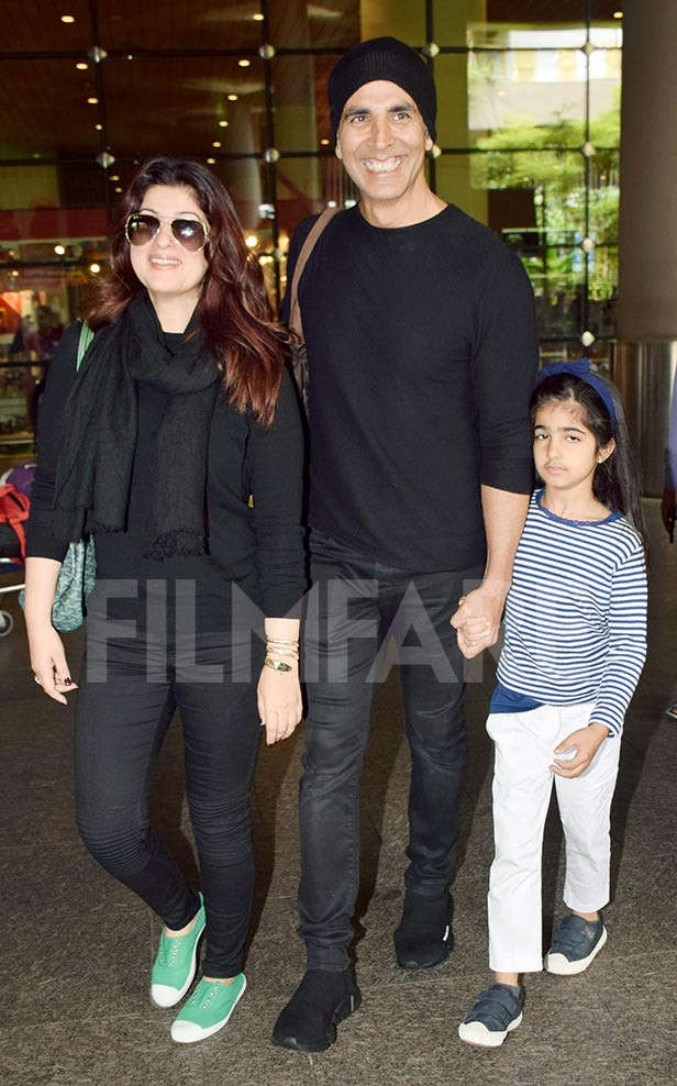 Akshay Kumar back in Mumbai with his family after vacationing in London