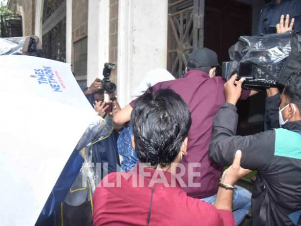 Rhea Chakraborty arrives at the ED's office to record her statement