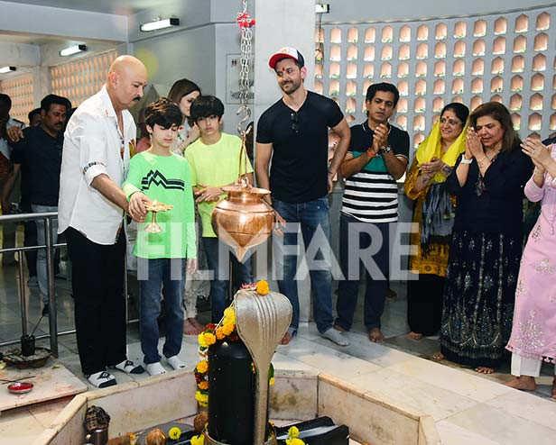 Rakesh Roshan,Hrehaan Roshan, Hredaan Roshan, Hrithik Roshan, Pinky Roshan