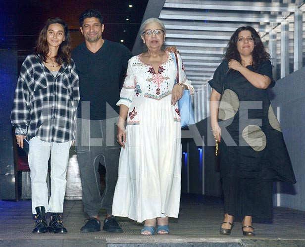 Shibani Dandekar, Farhan Akhtar, Zoya Akhtar