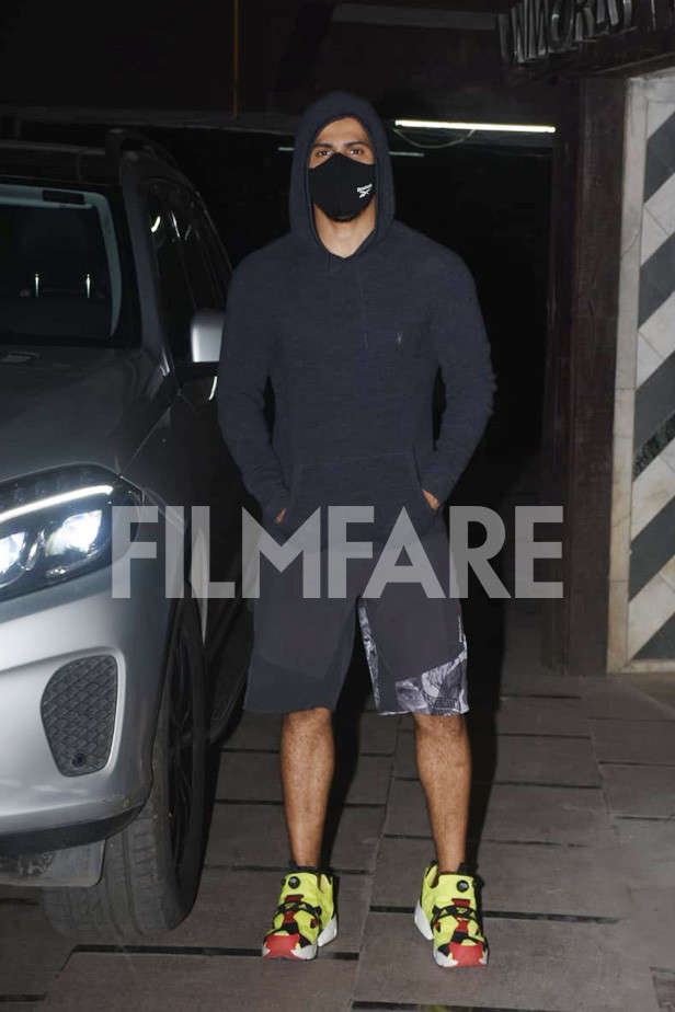 , Varun Dhawan clicked post a late-night workout session,