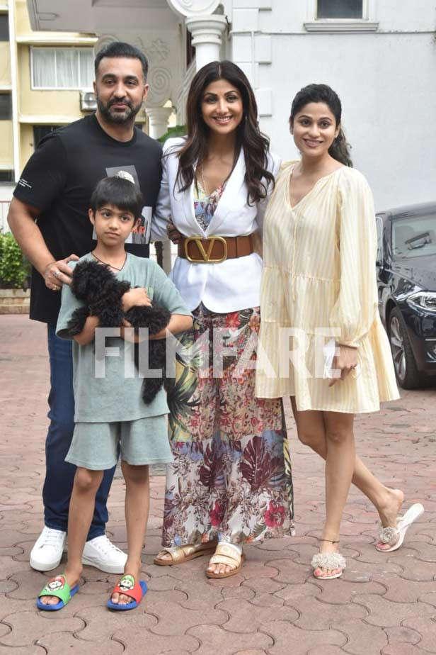 Raj Kundra, Viaan Raj Kundra, Shilpa Shetty Kundra, Shamita Shetty