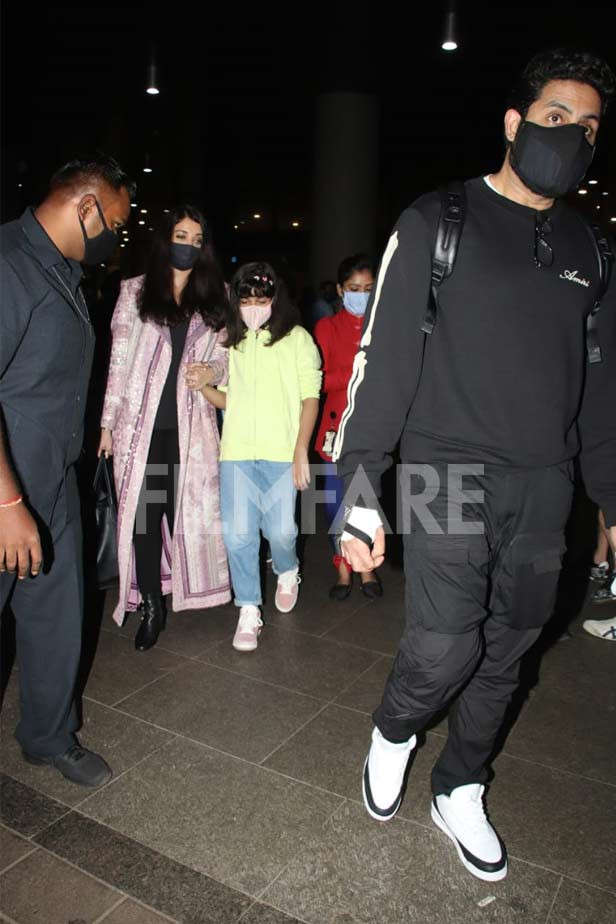 Ishwaria Rai Bachchan, Aradhya Bachchan, Abhishek Bachchan