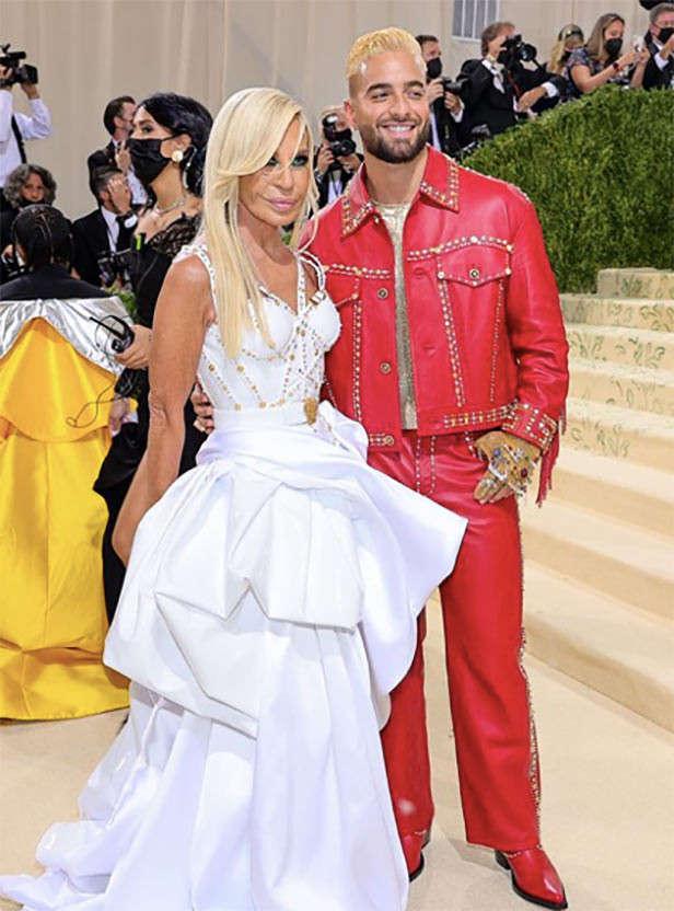 Donatella Versace and Maluma